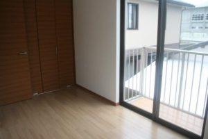 高知市神田のK様邸、サンブランドハウスの新築完成写真です。ベランダの写真になります。