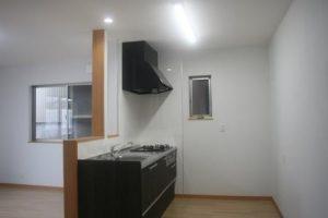 高知市針木の新築のK様邸です。キッチンの写真になります。