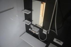 高知市針木の新築のK様邸です。ユニットバスの写真になります。