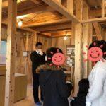 岡山市南区の森本様邸見学会の様子です。