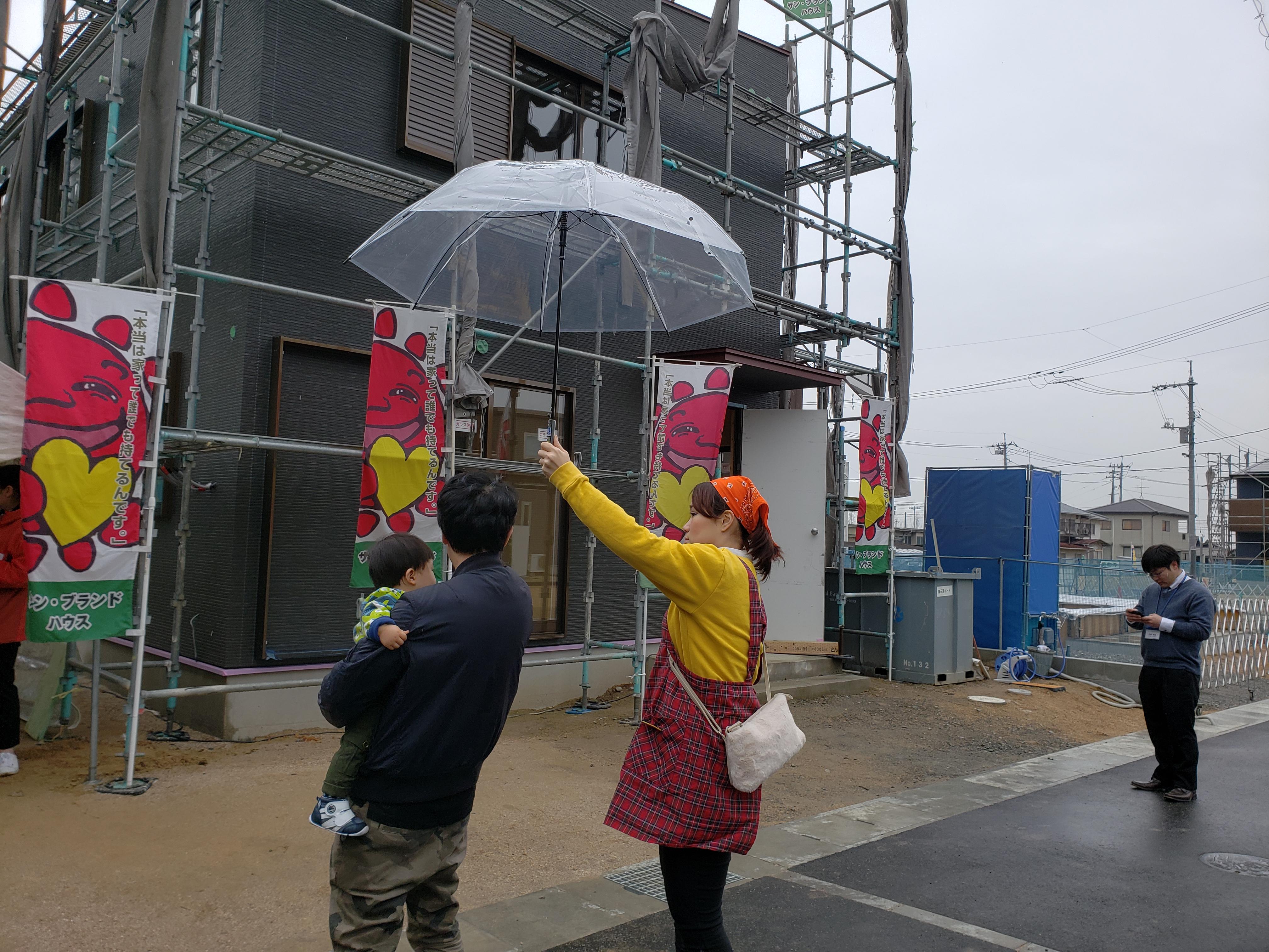 岡山市南区片岡で行われた新築見学会の様子です。