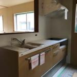 岡山市南区の森本様邸のキッチンの画像です。