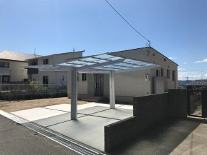 岡山県赤磐市M様邸の新築完成写真の外観写真です。