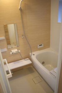 高知県香美市W様新築完成写真の浴室です。