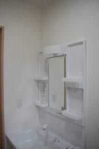 香美市土佐山田町で新築を建てたY様のお家の洗面台の写真です。