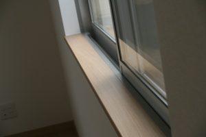 香美市土佐山田町で新築を建てたY様のお家の窓枠の写真です。