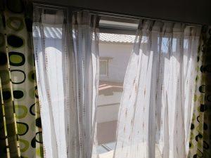 高知市のリフォームH様邸のカーテンの完成写真です。