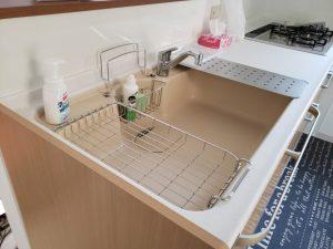 岡山市南区福富西の森本様邸新築写真のキッチン部分です。