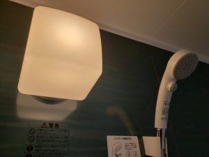 岡山市南区福富西の森本様邸新築写真の浴室のライトです。