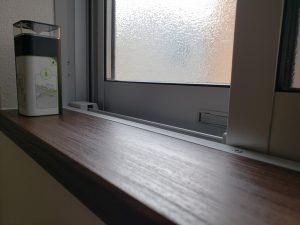 岡山市南区福富西の森本様邸新築写真の窓のサッシ部分です。
