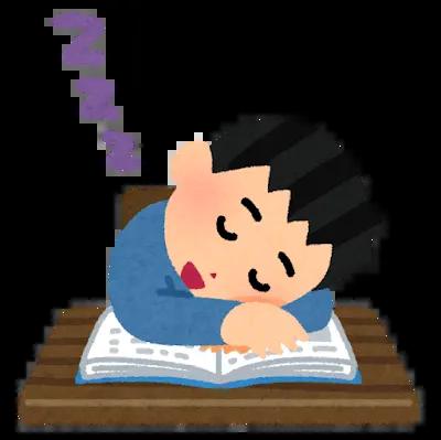 眠る人の画像です。