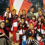 高知県浦戸で開催された龍馬プロジェクトのよさこい祭りです。