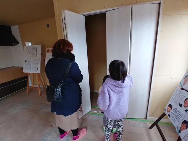 神田で開催した新築見学会の様子です。