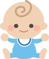 赤ちゃんのイラストです。