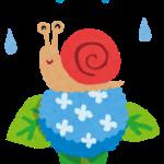 梅雨のイラストです。