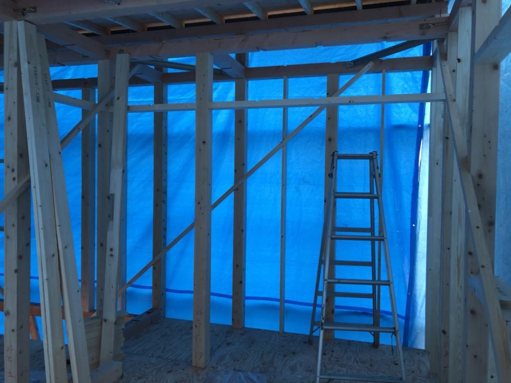 倉敷市の上棟したばかりの現場の写真です | 倉敷市で月々三万円で新築一戸建てを建てるならサンブランドハウス