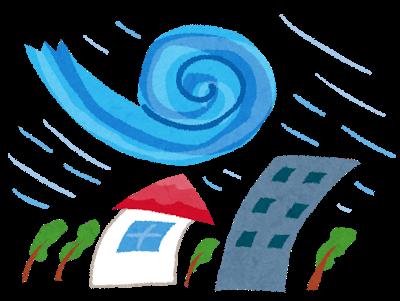 台風のイラストです。