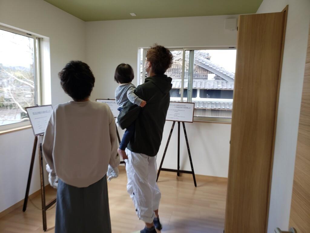 高知市春野町の「シングルマザーのための家」見学会場の写真です。