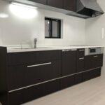 岡山県岡山市のK様邸のキッチンの新築完成写真です。